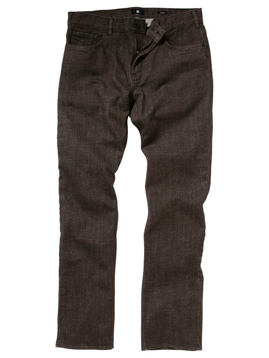 DC Men's Straight Fit Yarndye Jeans - Blackwood