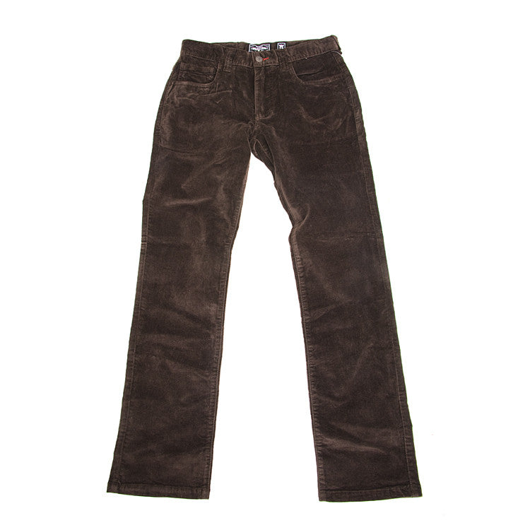 Elwood Silas' Rambler Un-cut Cord Men's Pants - Chocolate - Size 28