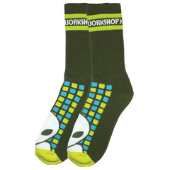 Alien Workshop Matrix Men's Socks - Army (1 Pair)