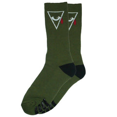 Alien Workshop Psyop Men's Socks - Army (1 Pair)