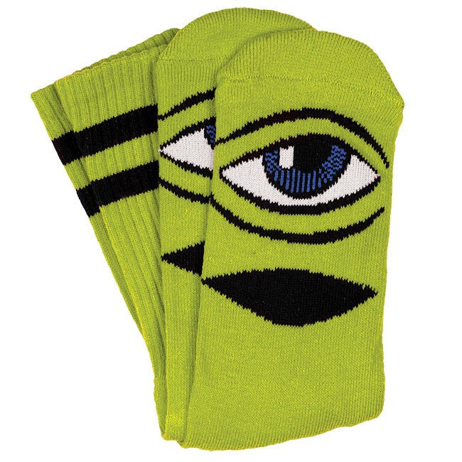 Toy Machine Sect Eye III Men's Socks - Green (1 Pair)