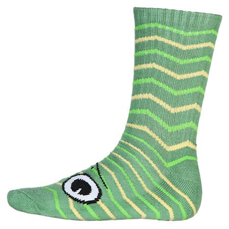 Toy Machine Turtle Men's Stripe Socks - Green (1 Pair)