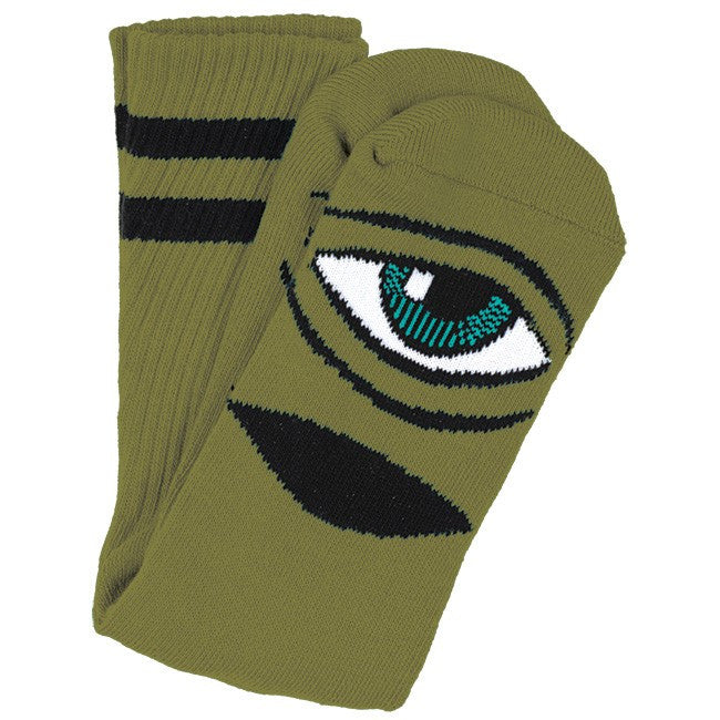 Toy Machine Sect Eye III Men's Socks - Army (1 Pair)