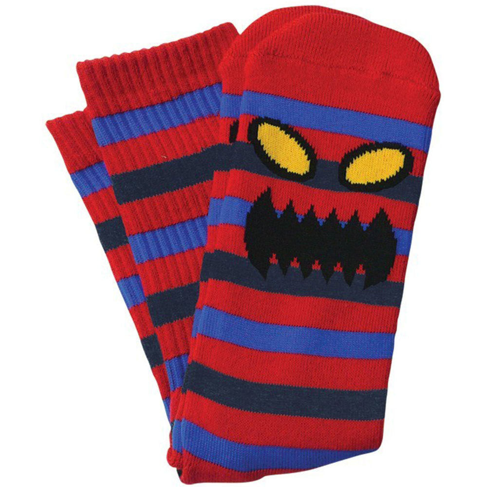 Toy Machine Monster Stripe Men's Socks - Blue/Red (1 Pair)