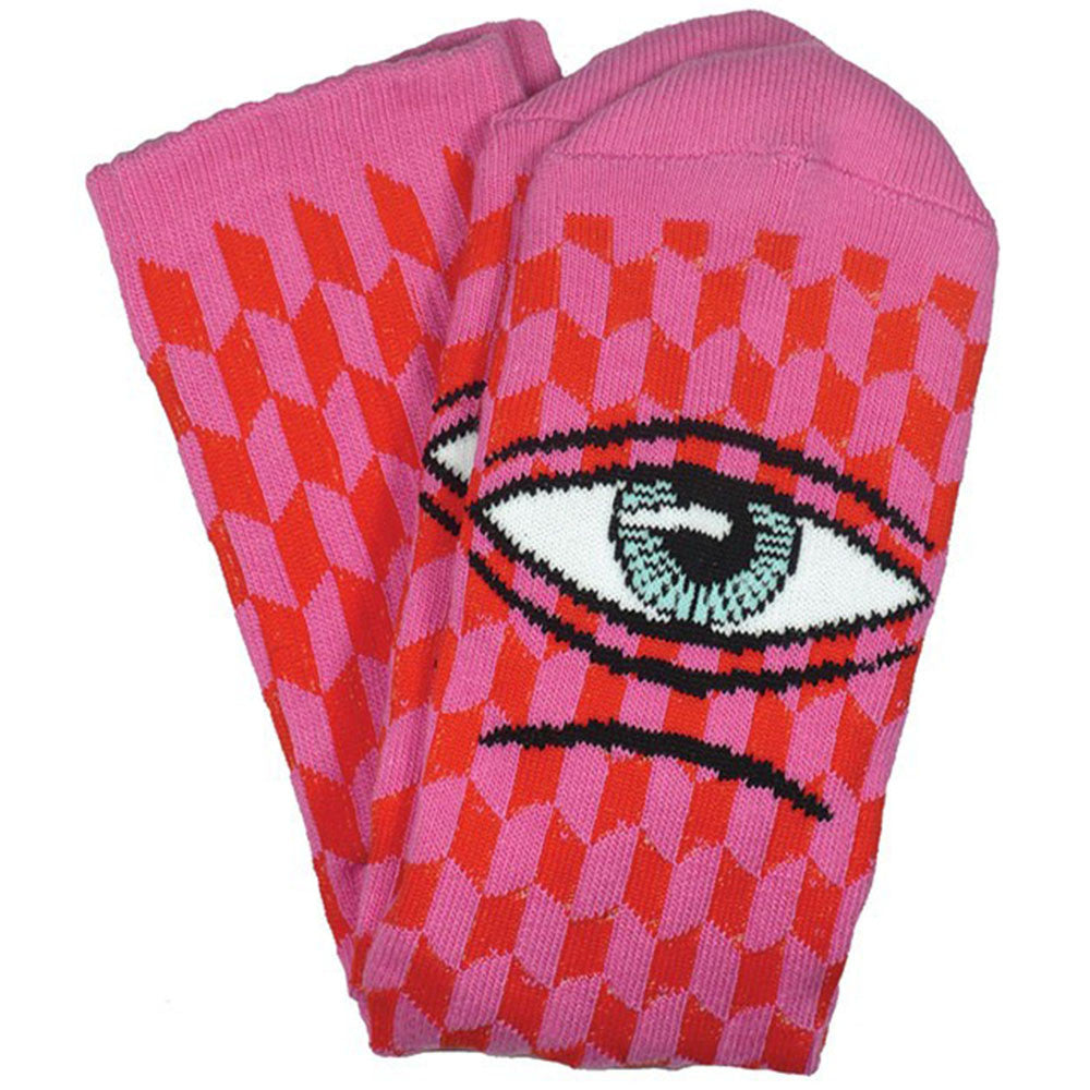 Toy Machine Sect Herring Men's Socks - Pink (1 Pair)