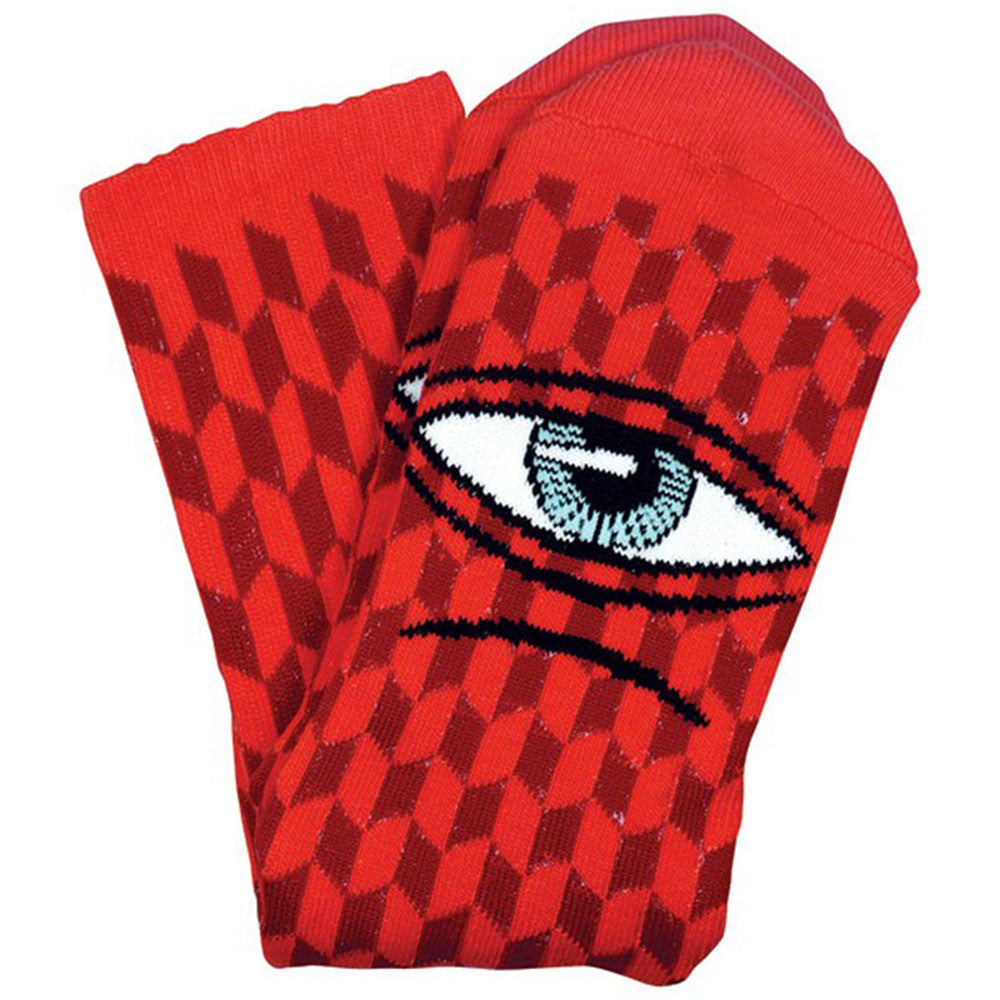 Toy Machine Sect Herring Men's Socks - Red (1 Pair)