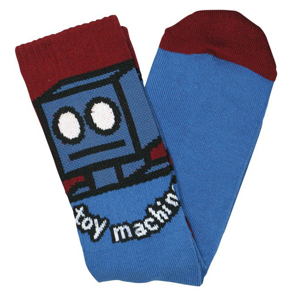 Toy Machine Robot Men's Socks (1 Pair) - Blue