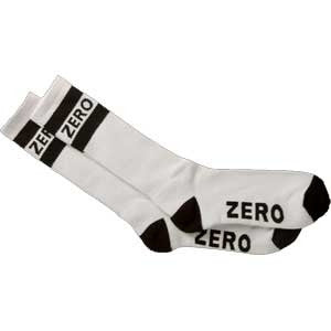 Zero Army Men's Knee Hi Socks - White/Black (1 Pair)