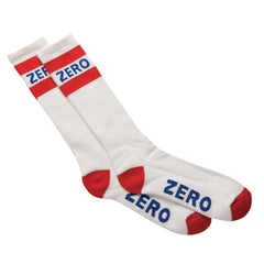 Zero Army Knee High Mens Socks - White/Red/Blue (1 Pair)