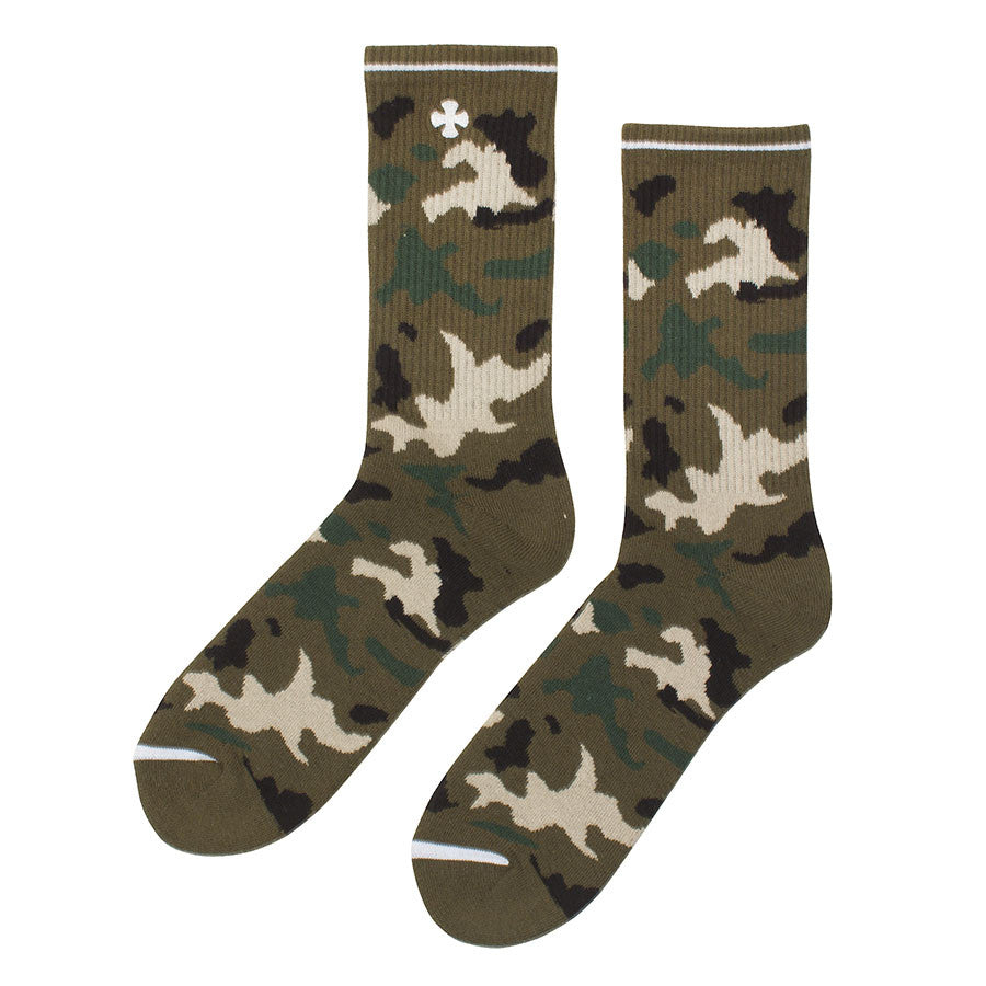 Independent Solo Cross Crew Men's Socks - Camo (2 Pairs)