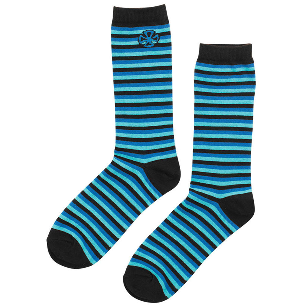 Independent Vertigo Crew Men's Socks - Black/Blue (1 Pair)