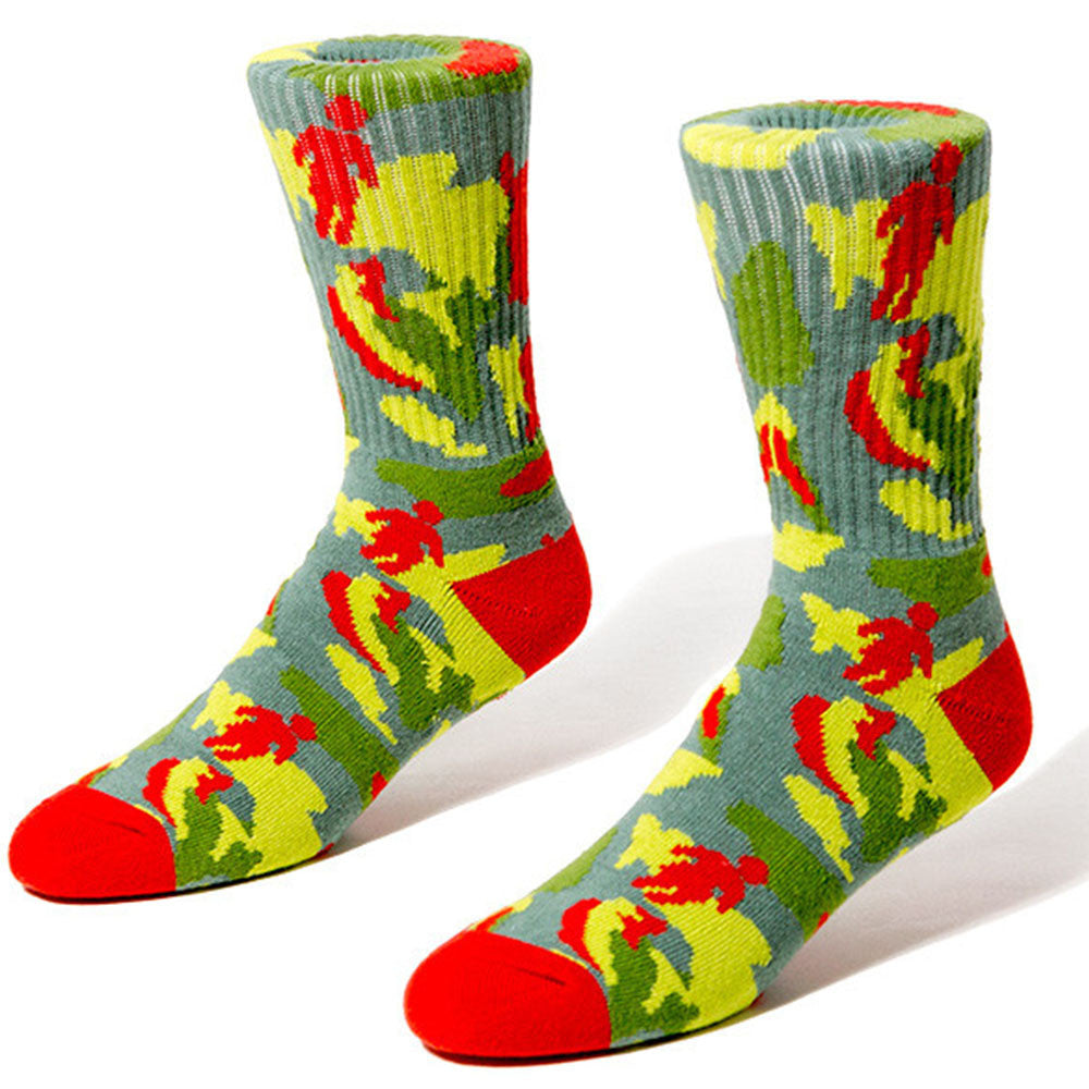Girl OG Jungle Men's Socks (1 Pair) - Red