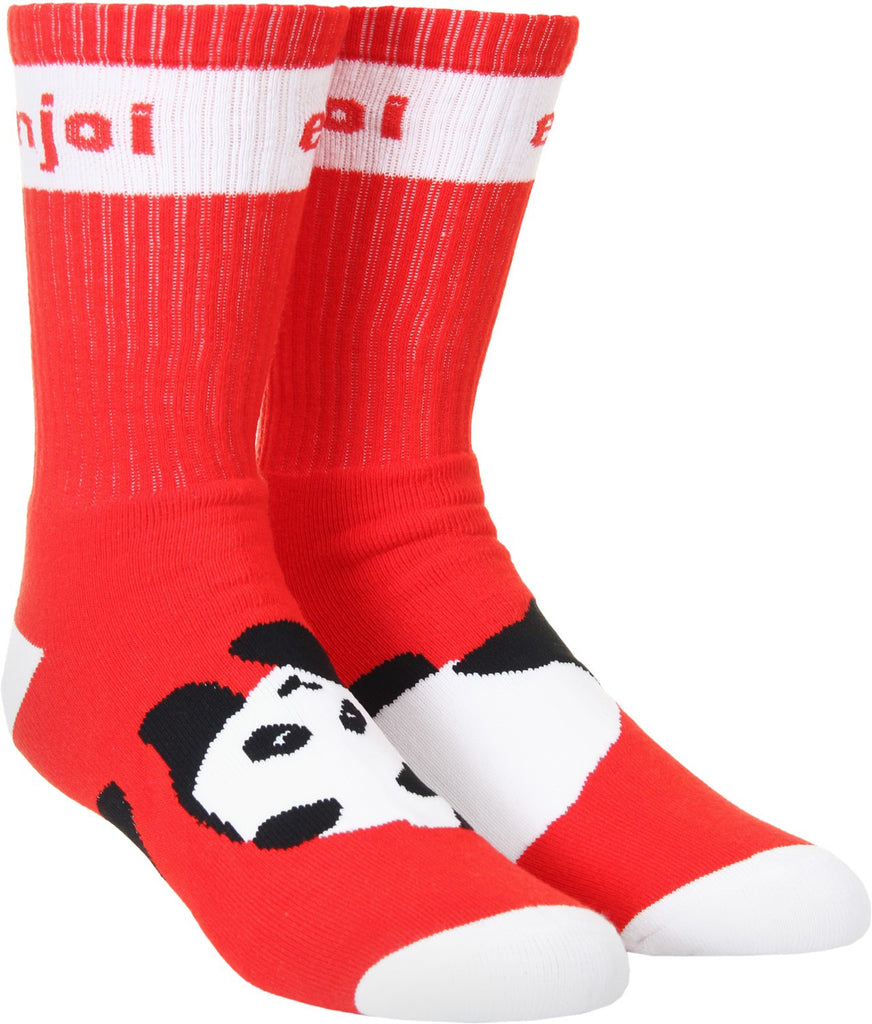 Enjoi Panda Feet Men's Socks - Red (1 Pair)