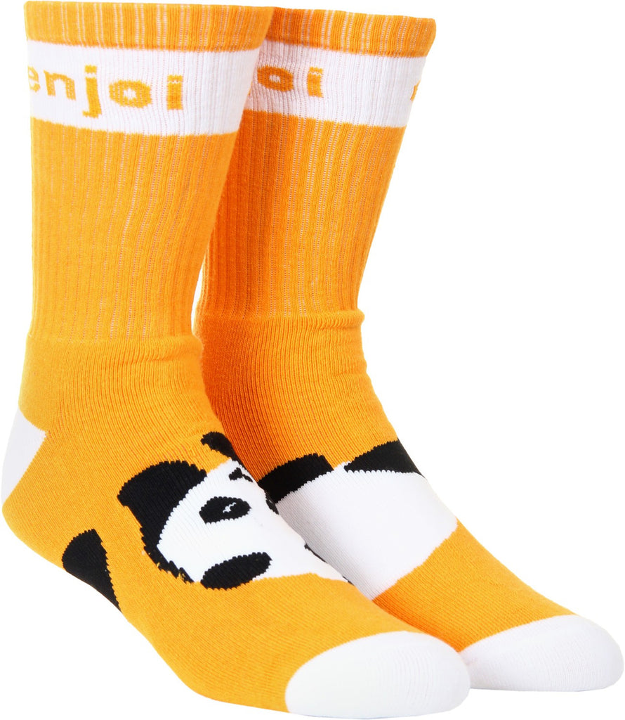 Enjoi Panda Feet Men's Socks - Orange (1 Pair)