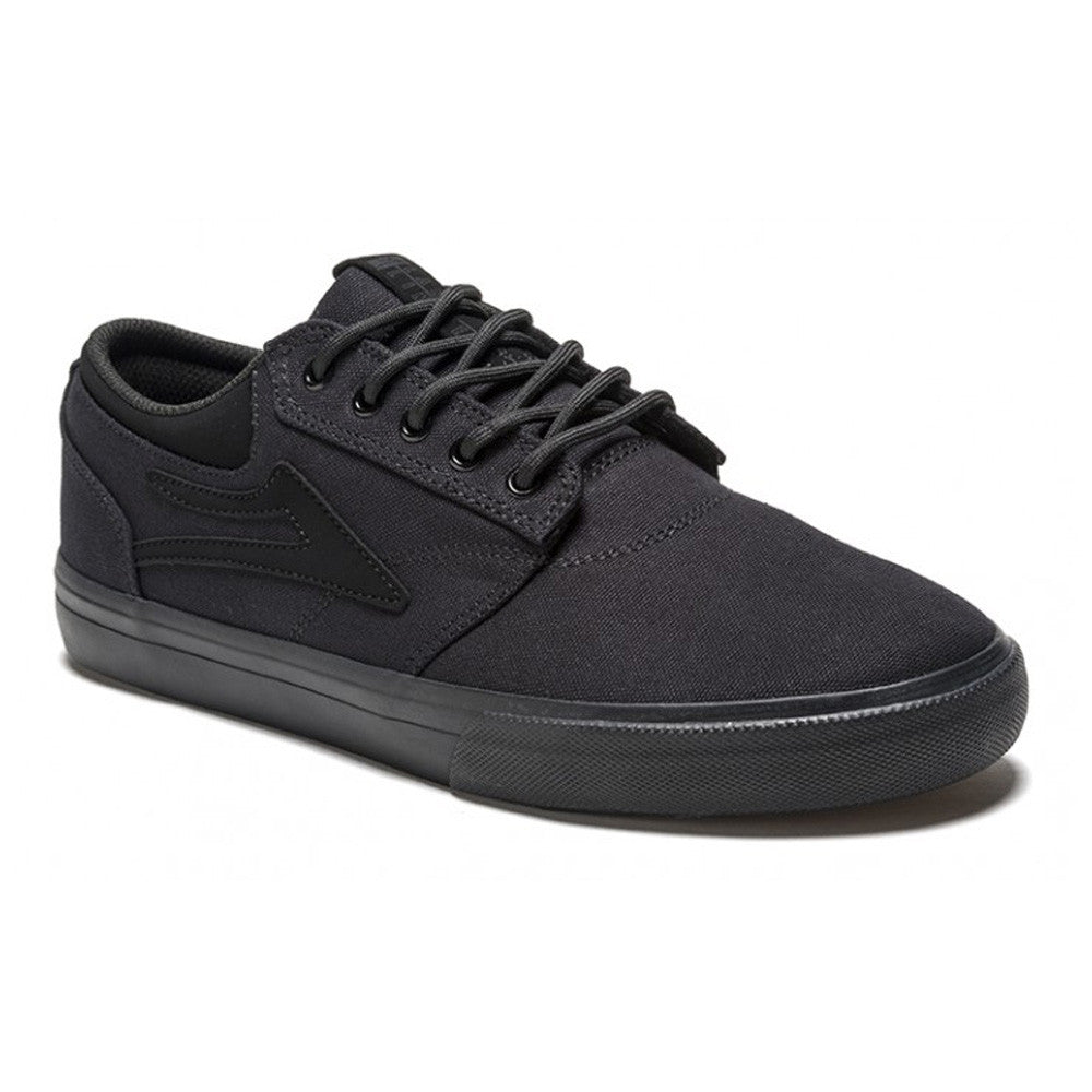 Lakai Griffin Men's Skateboard Shoes - Black/Black Canvas