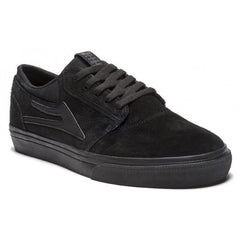 Lakai Griffin Men's Skateboard Shoes - Black/Black Suede