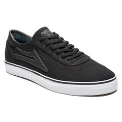 Lakai Manchester Lean Men's Skateboard Shoes - Black Canvas