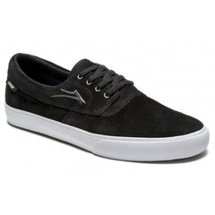 Lakai Camby Men's Skateboard Shoes - Black/White Suede