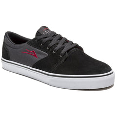 Lakai Fura Men's Skateboard Shoes - Black/Grey Suede
