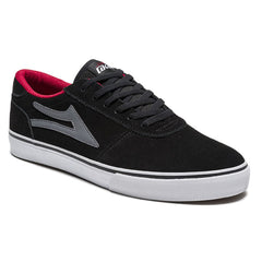 Lakai Manchester Men's Skateboard Shoes - Black/Grey Suede