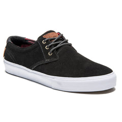 Lakai MJ Men's Skateboard Shoes - Black/Red Suede