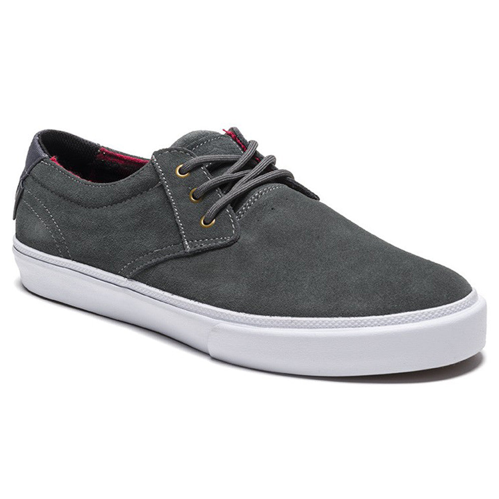 Lakai MJ Men's Skateboard Shoes - Grey/Red Suede