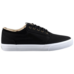 Lakai Griffin SMU Men's Skateboard Shoes - Black/White Canvas