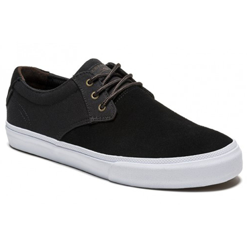 Lakai MJ Men's Skateboard Shoes - Black/White Suede