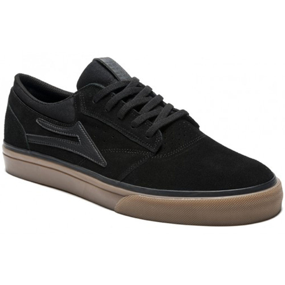 Lakai Griffin Men's Skateboard Shoes - Black/Dark Gum Suede