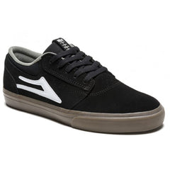 Lakai Griffin Men's Skateboard Shoes - Black/Gum Suede