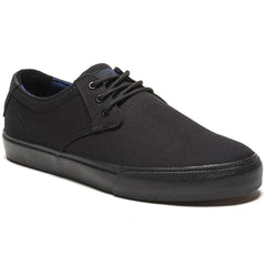 Lakai MJ Men's Skateboard Shoes - Black/Black Canvas