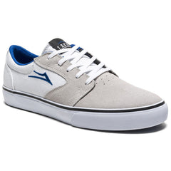 Lakai Fura Men's Skateboard Shoes - White/Blue Suede