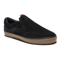 Lakai Owen Men's Skateboard Shoes - Black/Gum Suede