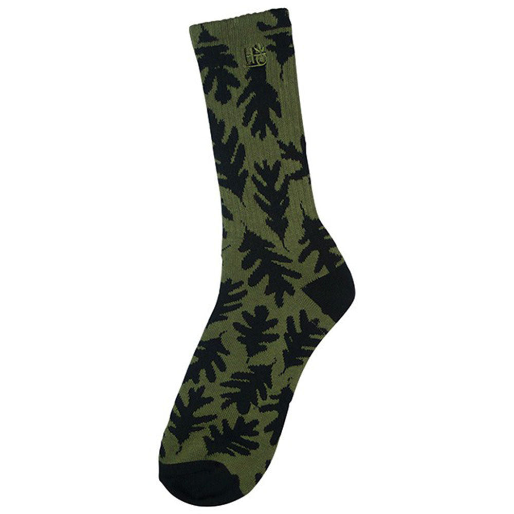 Habitat Leaves Men's Sock - Army/Black (1 Pair)