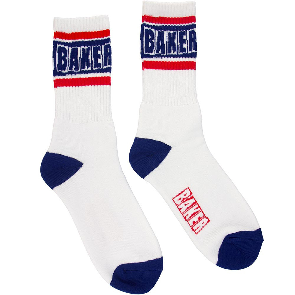 Baker Champion Men's Socks - White/Blue (1 Pair)