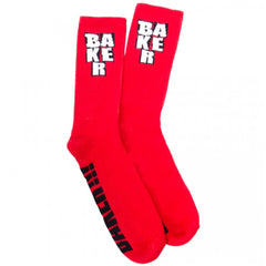 Baker Stacked Men's Socks - Red (1 Pair)