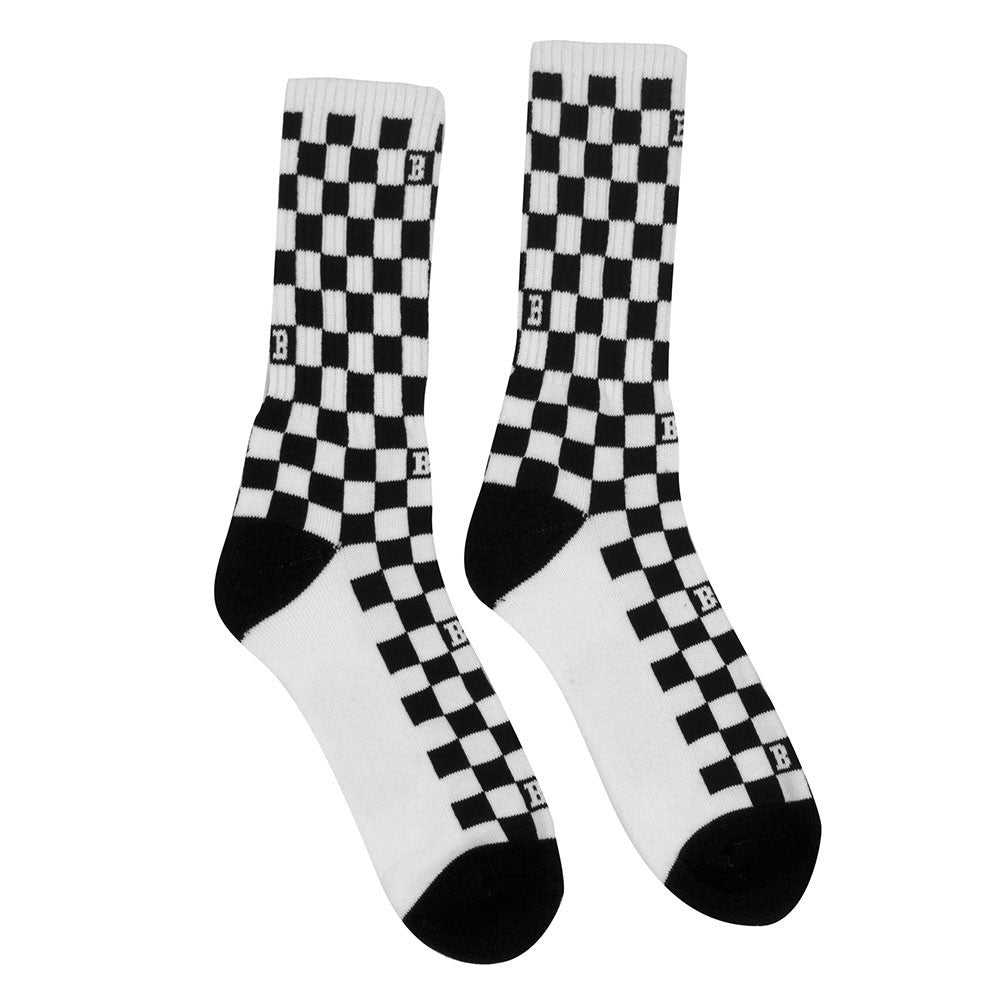 Baker Flag Men's Socks - Black/White (1 Pair)