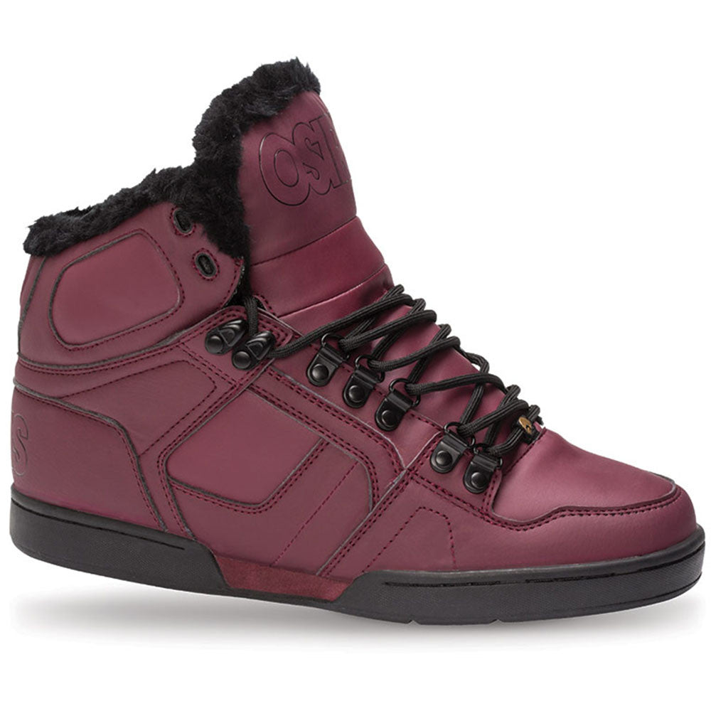 Osiris NYC 83 Shearling Men's Skateboard Shoes - Burgundy/Black