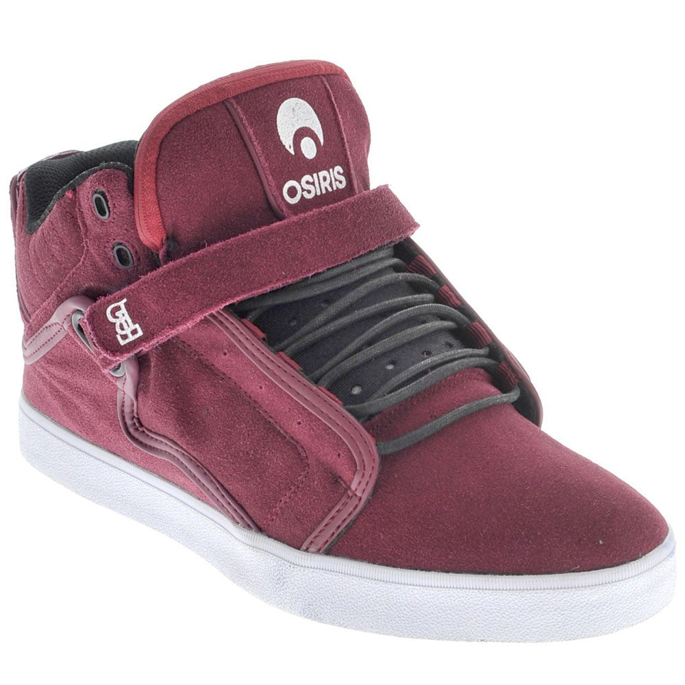 Osiris Bingaman Vulc Men's Skateboard Shoes - Plum/White/Black