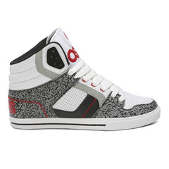 Osiris Clone Men's Skateboard Shoes - White/Red/Elephant