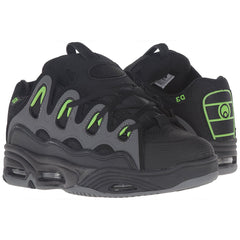 Osiris D3 2001 Men's Skateboard Shoes - Black/Green/Charcoal
