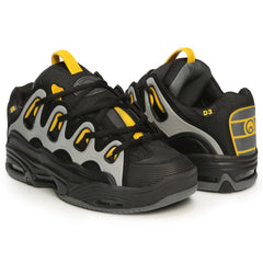 Osiris D3 2001 Men's Skateboard Shoes - Black/Yellow/Charcoal