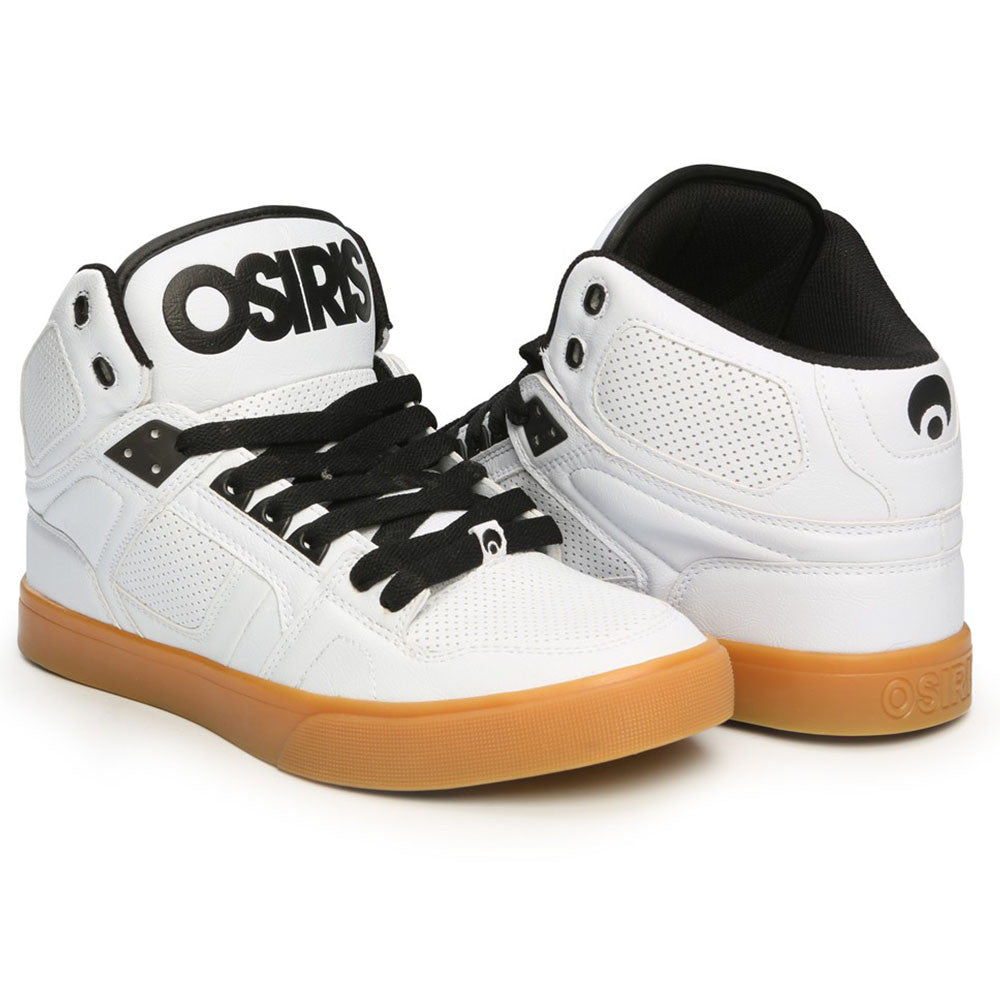 Osiris NYC 83 Vulc Men's Skateboard Shoes - White/Gum