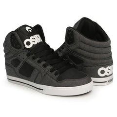 Osiris Clone Men's Skateboard Shoes - Black/Textile/Black