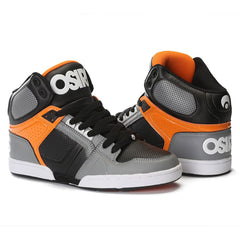 Osiris NYC 83 - Men's Skateboard Shoes  - Grey/Orange