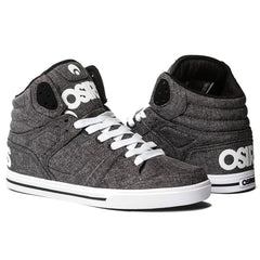 Osiris Clone - Men's Skateboard Shoes - Black/White/Salt
