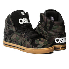Osiris Clone - Men's Skateboard Shoes- Black/White/Camo