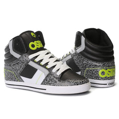 4d2c1fce7988f Osiris Clone - Men's Skateboard Shoes - Black/Lime/Elephant