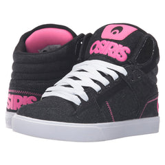 Osiris Clone - Women's Skateboard Shoes - Black/Denim/Pink