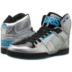 Osiris NYC 83 Men's Skateboard Shoes - Silver/Cyan/Black